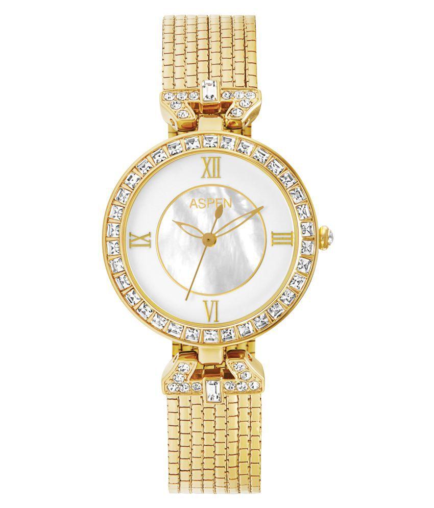 Aspen Exclusive AP1839A Ladies Golden Analog Watch