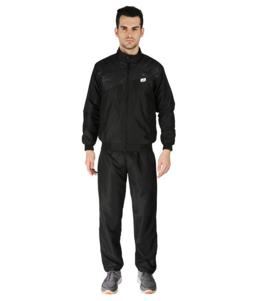 Vector X VTS-Dragon Black Solid Men's Track Suit