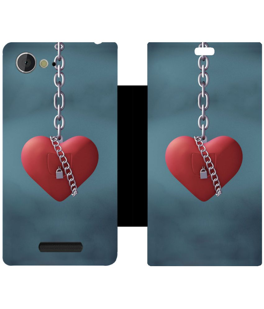 Sony Xperia E3 Flip Cover by Skintice - Blue