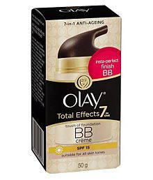 Olay Total Effect 7 In One Anti Aging BB Creme (SPF 15) 50 Gm With Ayur Freebie