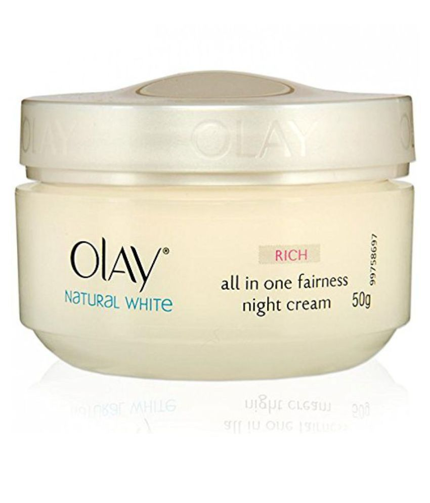 Olay Natural White Healthy Fairness Night Cream 50g: Buy Olay Natural White Healthy Fairness Night Cream 50g at Best Prices in India - Snapdeal