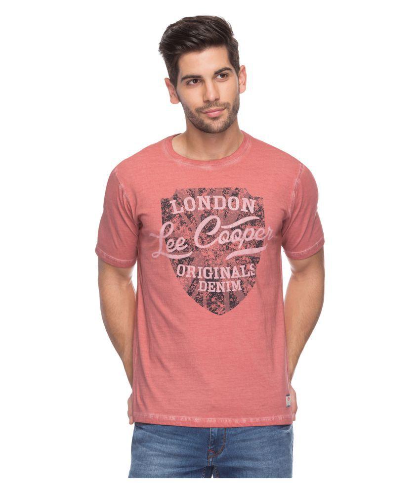 Lee Cooper Red Round T-Shirt