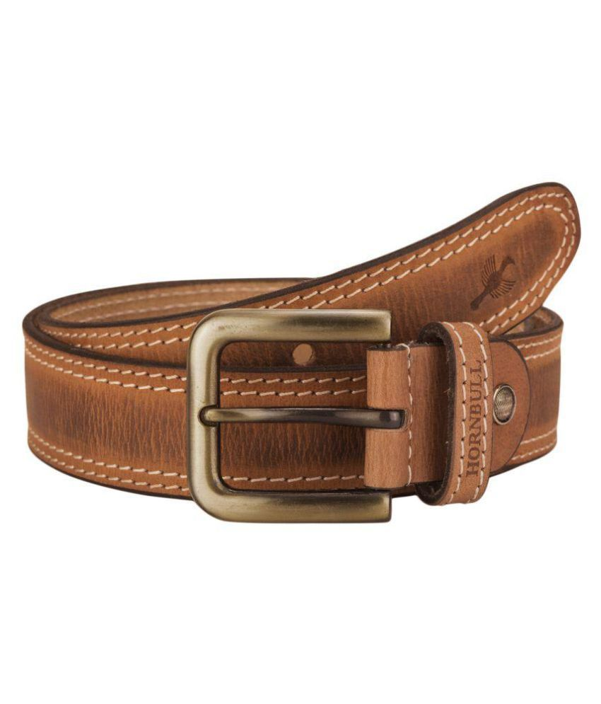Hornbull Tan Leather Casual Belts