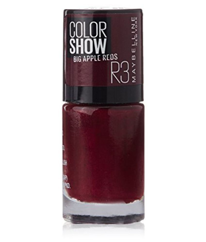 Maybelline New York Color Show Big Apple Nail Paint, Red Vixen, 6ml