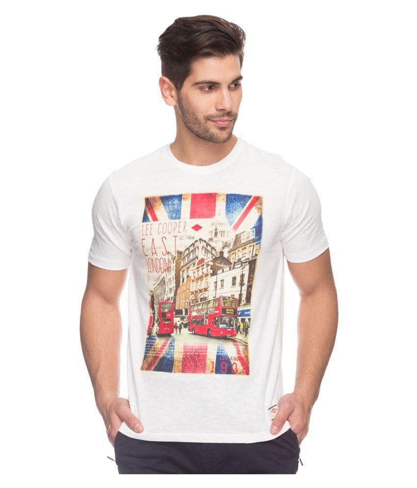 Lee Cooper White Round T-Shirt