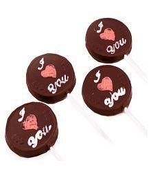 Ghasitaram Gifts Set Of 8 I Love U  Lollies Chocolate Box Valentine Chocolate  250 Gm