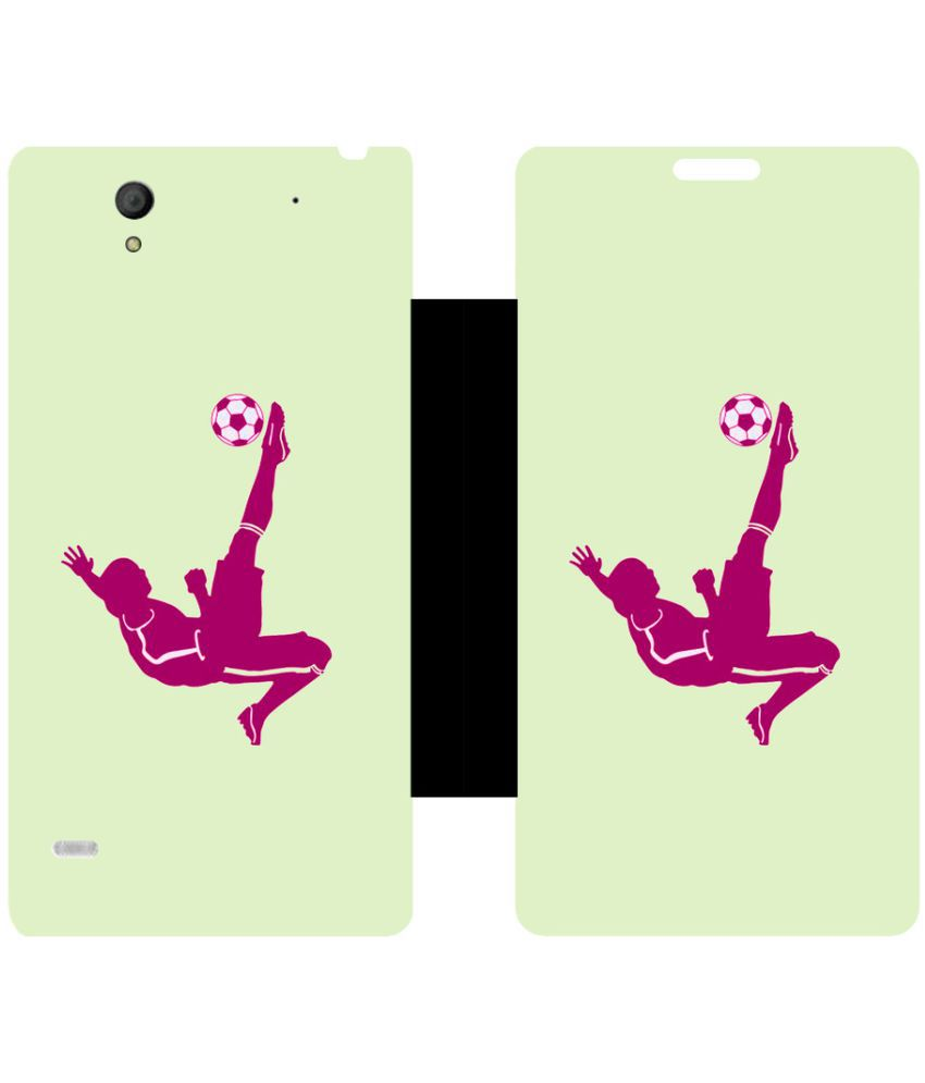 Sony Xperia C4 Flip Cover by Skintice - Multi