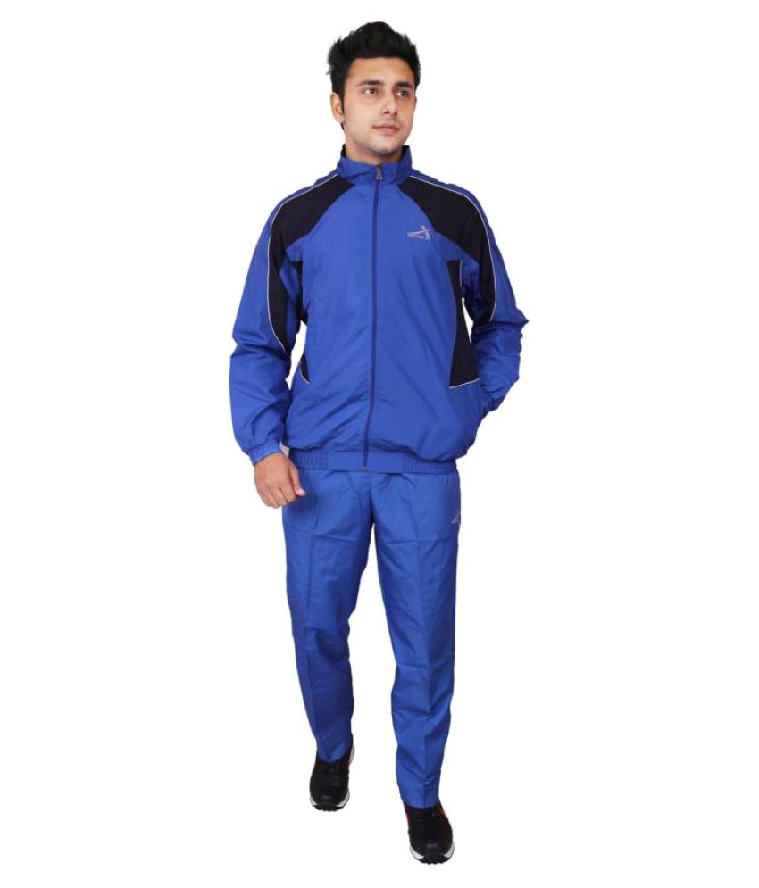 Vector X Blue Solid Men's Track Suit