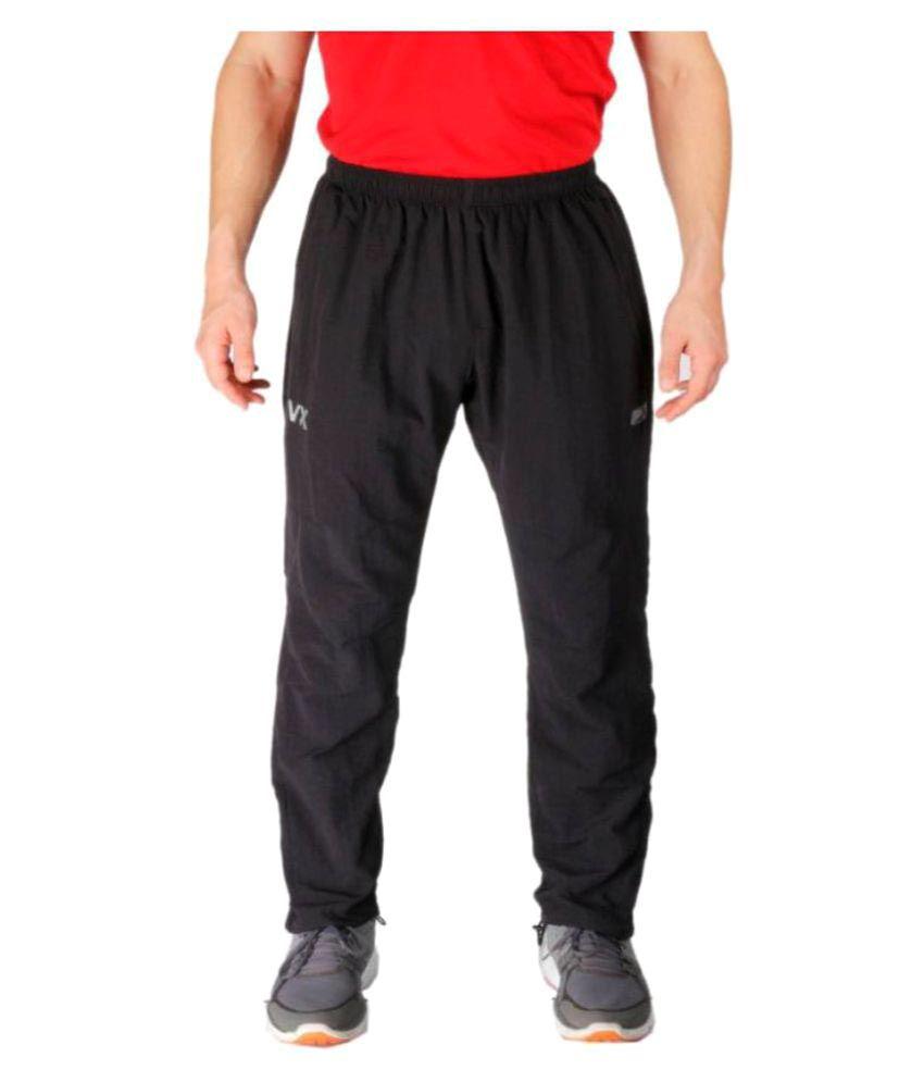 Vector X VL-1600-B Solid Men's Black Trackpant