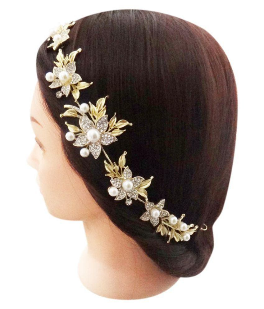 Hair accessories online snapdeal - Vogue Gold Party Tiaras Hair Accessories