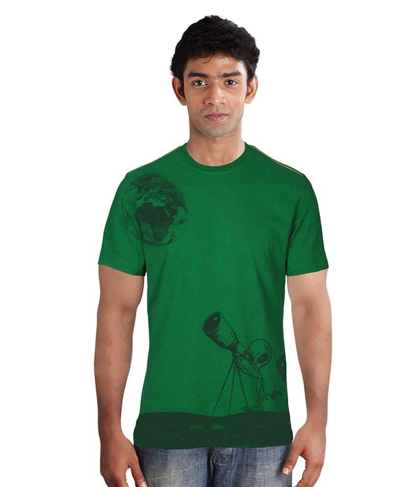 Huetrap Green Round T-Shirt