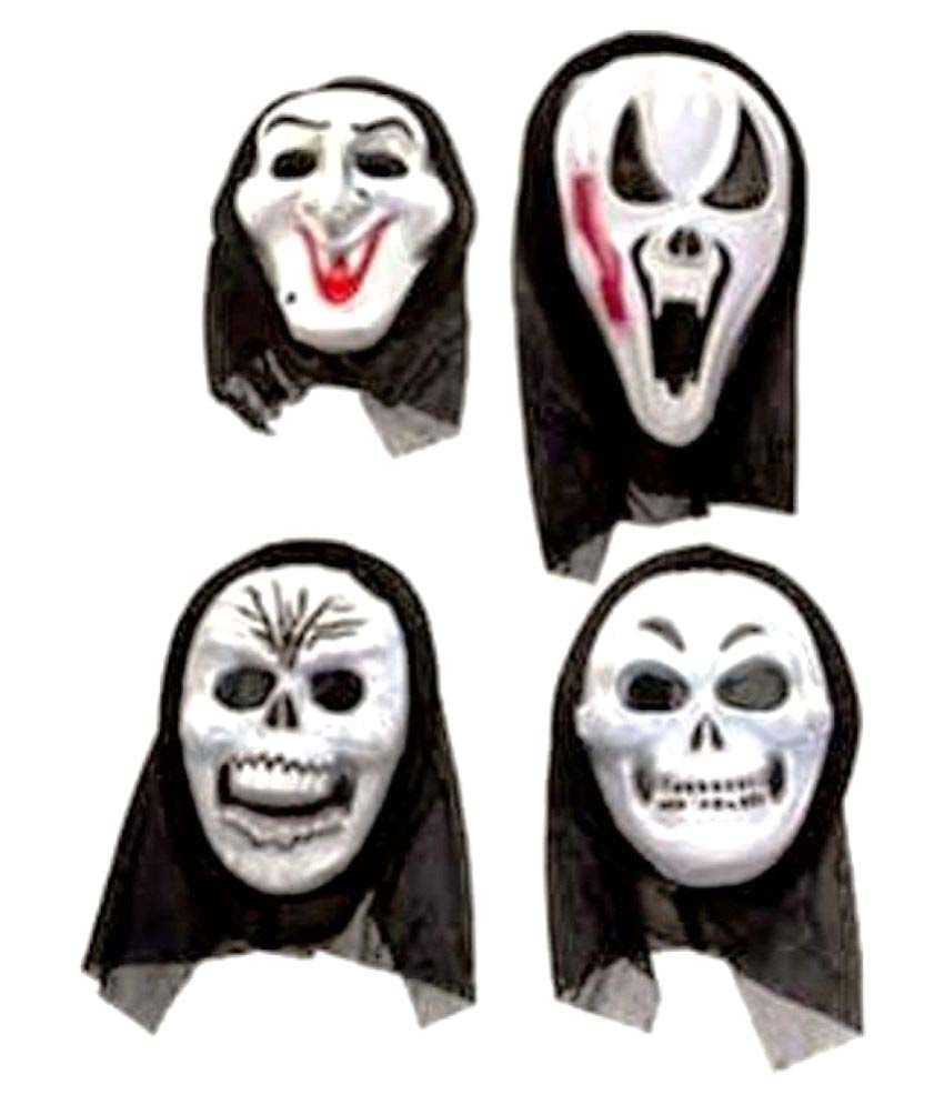 mohini creations halloween scary masks set of 4 - buy mohini