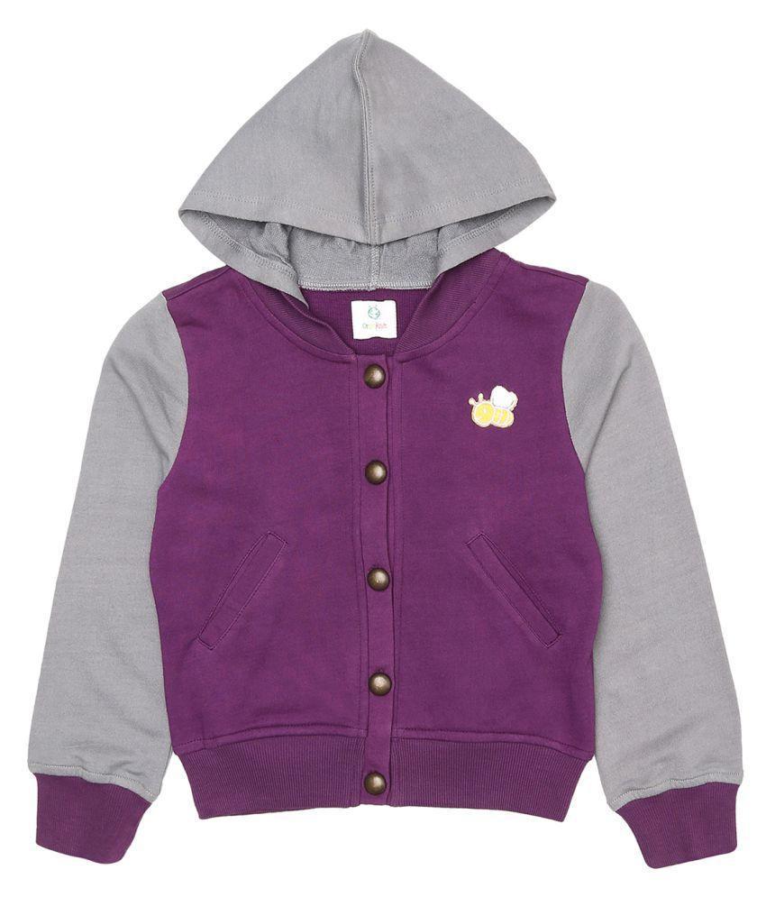 Orgaknit Purple Cotton Jacket