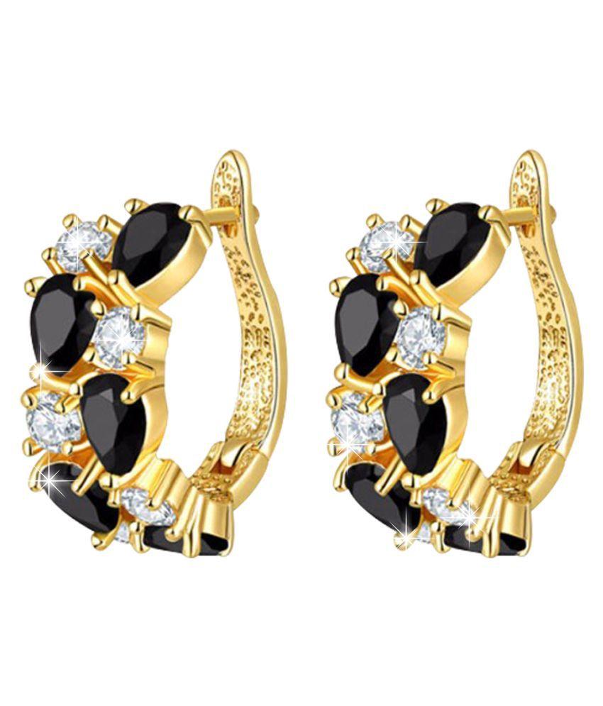 Jewels Galaxy Multicolour Alloy Hoop Earring