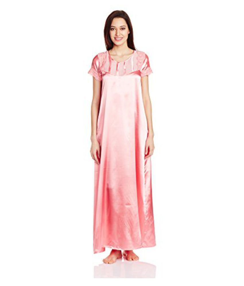 Buy Sweetdreams Women s Satin Full Length Nighty Online at Best ... d396f51a1f