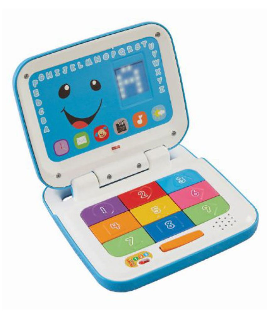 Fisher-Price Laugh And Learn Smart Stages Laptop, Blue/White