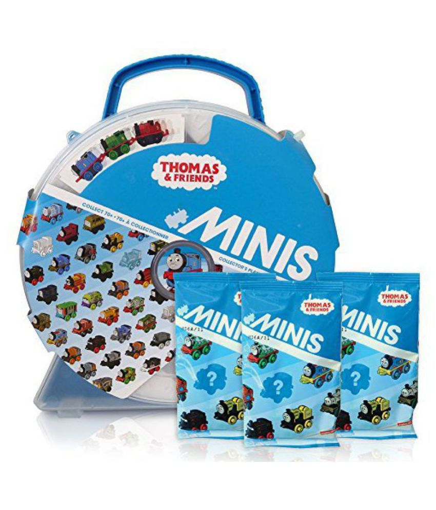 THomas & Friends Minis Collectors Playwheel Storage Case includes Mini Golden Thomas and 3 Packs of
