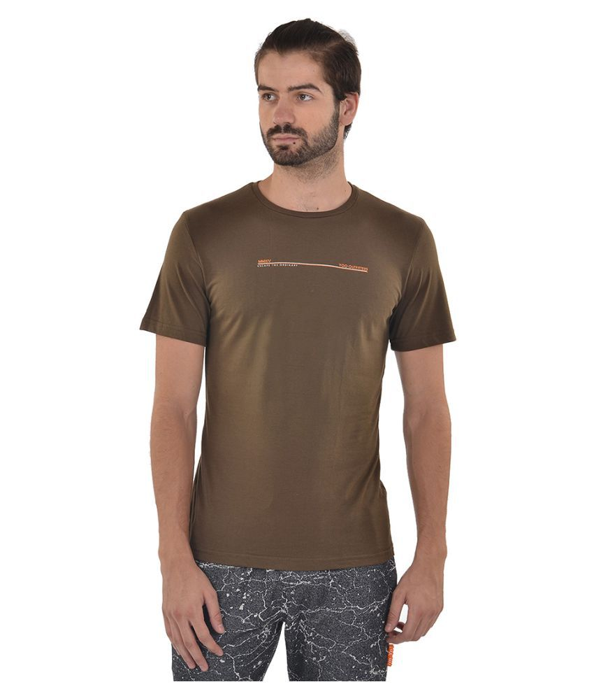 YOO Brown Round T-Shirt