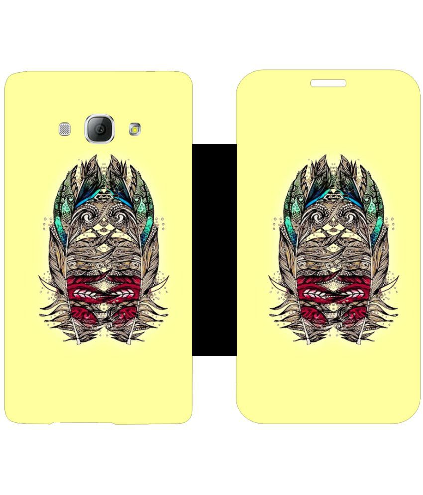 Samsung Galaxy A8 Flip Cover by Skintice - Yellow