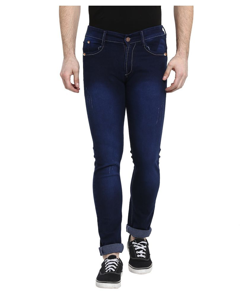 Urbano Fashion Dark Blue Slim Jeans