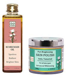 Auravedic Skin Polishing & Brightening Natural Care Face Polisher 200 Gm Pack Of 2