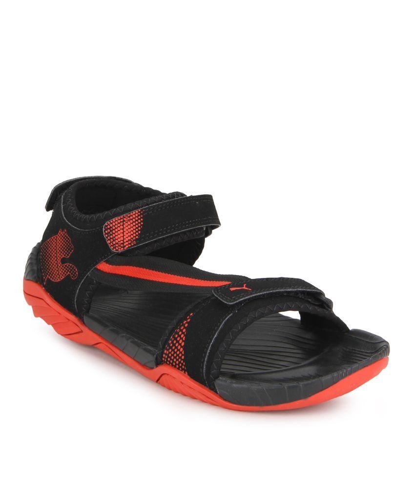 7dde49ba10e5 Puma Elego IDP Black Floater Sandals - Buy Puma Elego IDP Black ...