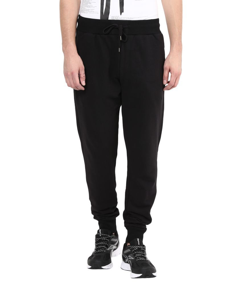 Fox Black Regular Flat Trackpants