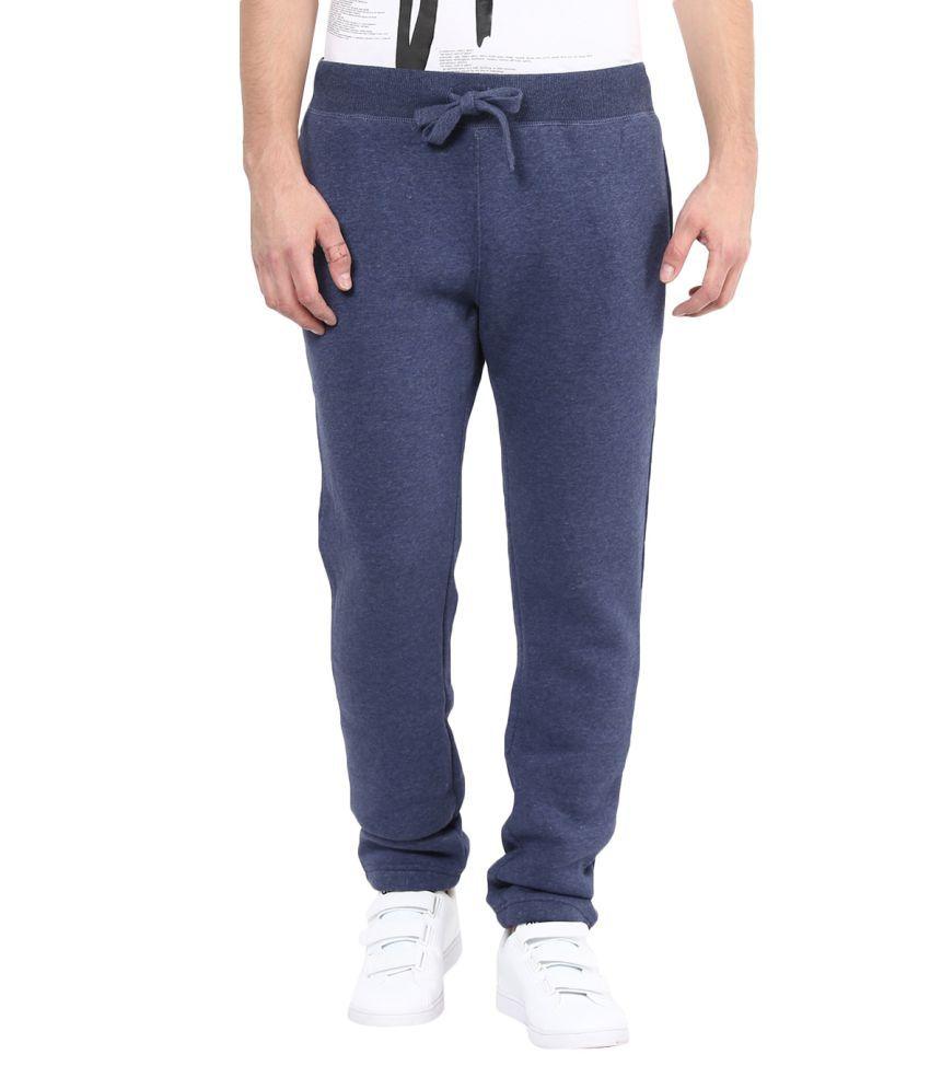 Fox Blue Regular Flat Trackpants