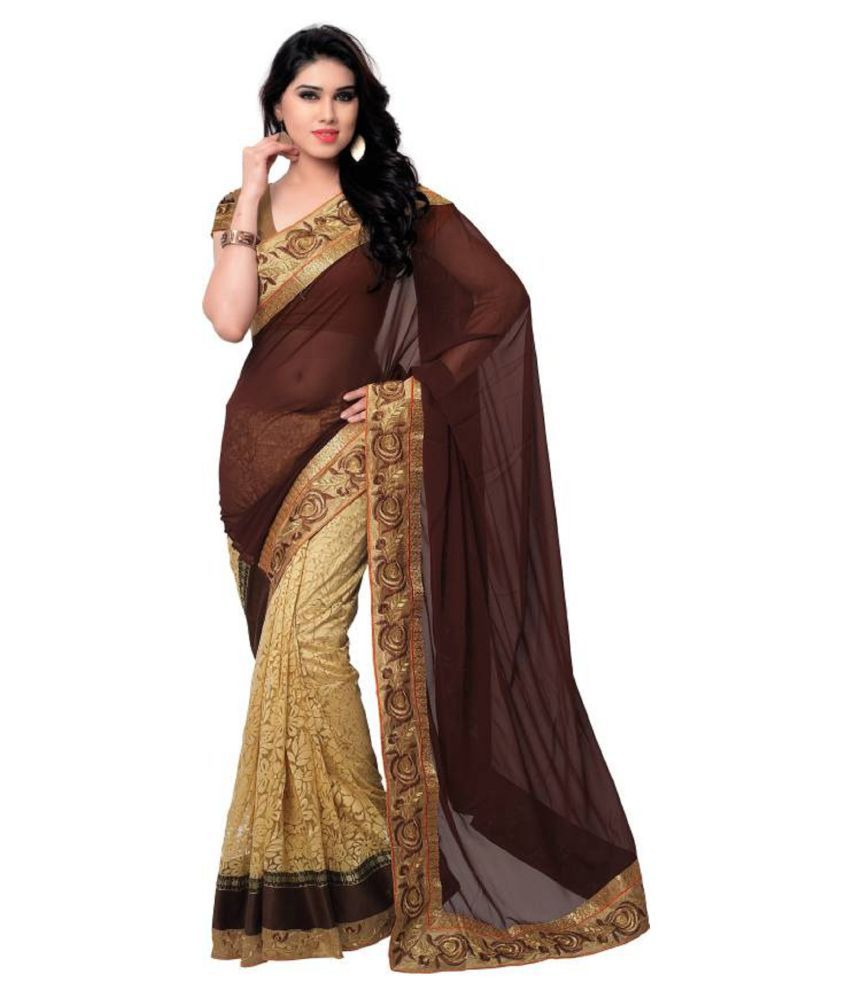 Jagdamba Textiles Multicoloured Georgette Saree