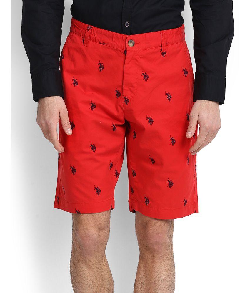 U.S. Polo Assn. Red Shorts