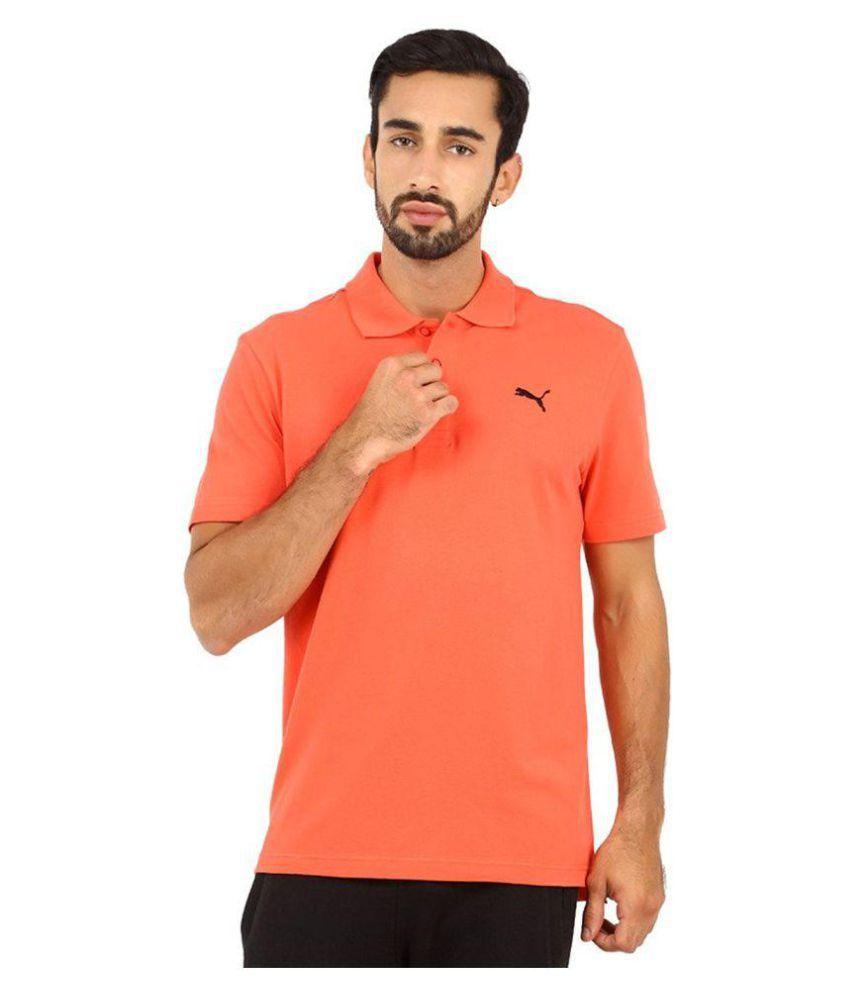 Puma Orange Regular Fit Polo T Shirt