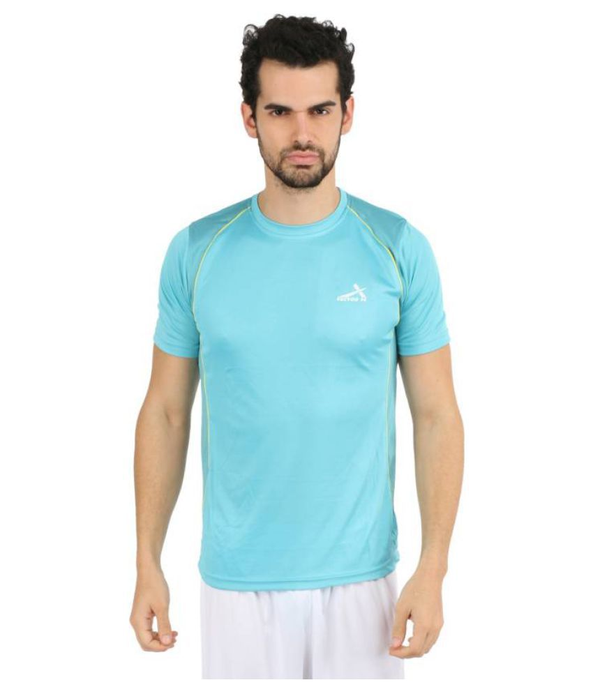 Vector X VTD-025-E Solid Men's Round Neck Light Blue T-Shirt