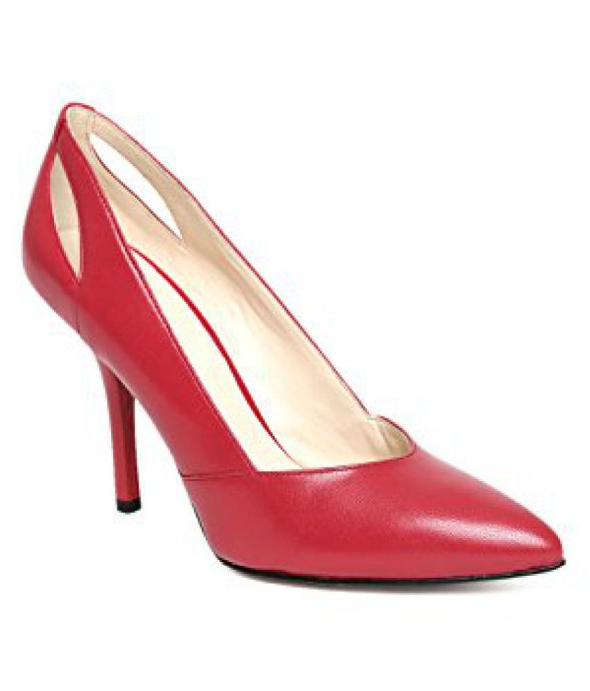 Nine West Women Red Leather Pumps