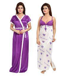 Khushfashions Satin Nighty & Night Gowns