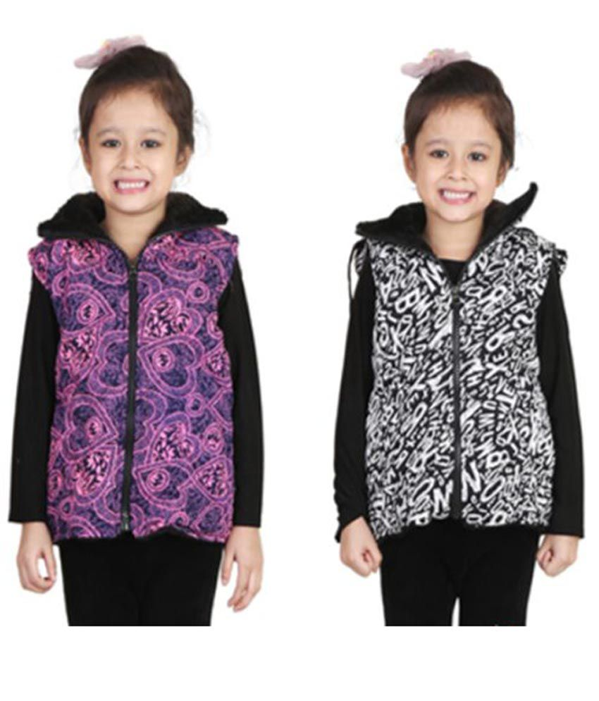 Crazeis Multicolour Nylon Light Weight Jacket Pack of 2