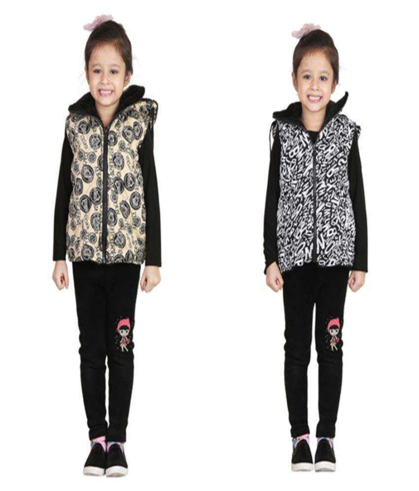 Crazeis Multicolour Hooded Jacket - Set of 2