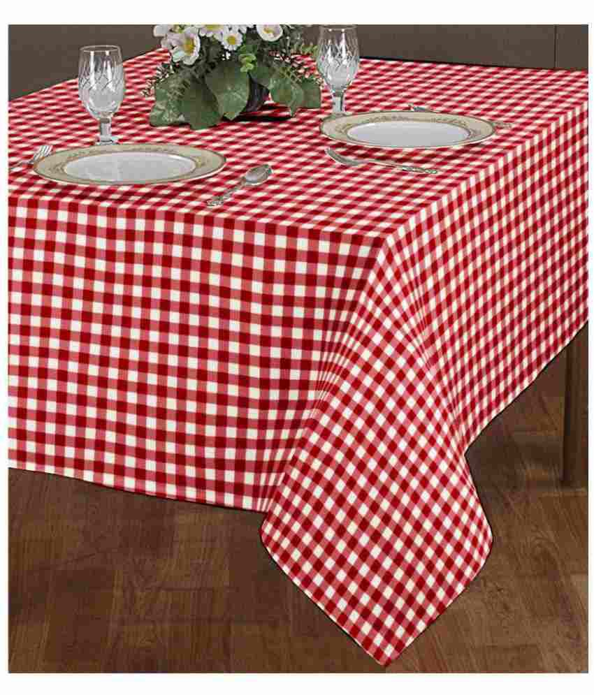 Airwill 6 Seater Cotton Single Table Covers ( 140 X 180 cm, 55 In X 70 In)