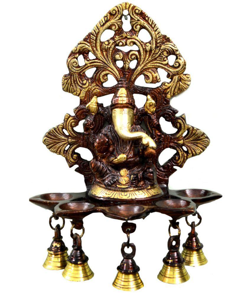 Craftuno Ganesha Brass Idol