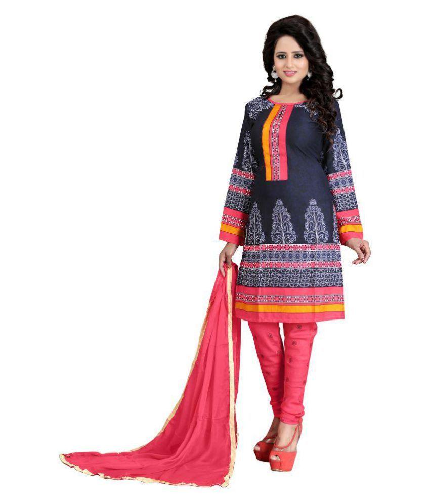 Kocoons Multicoloured Crepe Dress Material