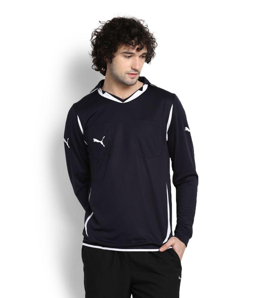 Puma Navy V-Neck T-Shirt