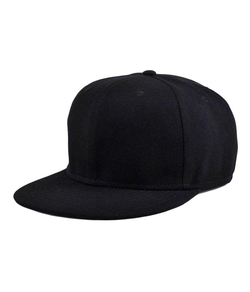 1b682d50ce4 Alamos Black Plain Cotton Caps - Buy Online   Rs.