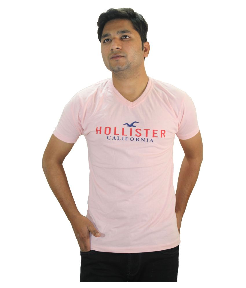Ansari Clotho Pink V-Neck T-Shirt