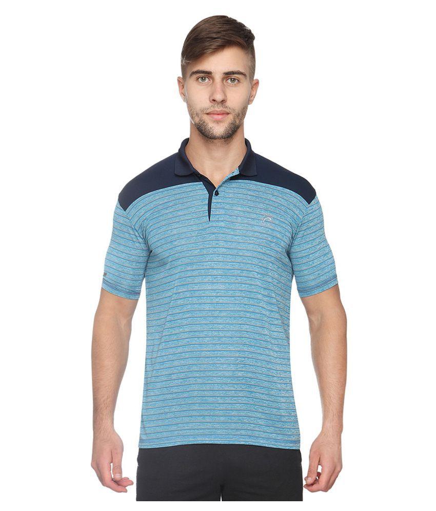 Proline Blue Cotton Blend Polo T-shirt