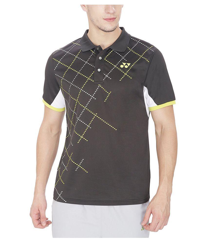 Yonex Badminton T-Shirts - Jet Black