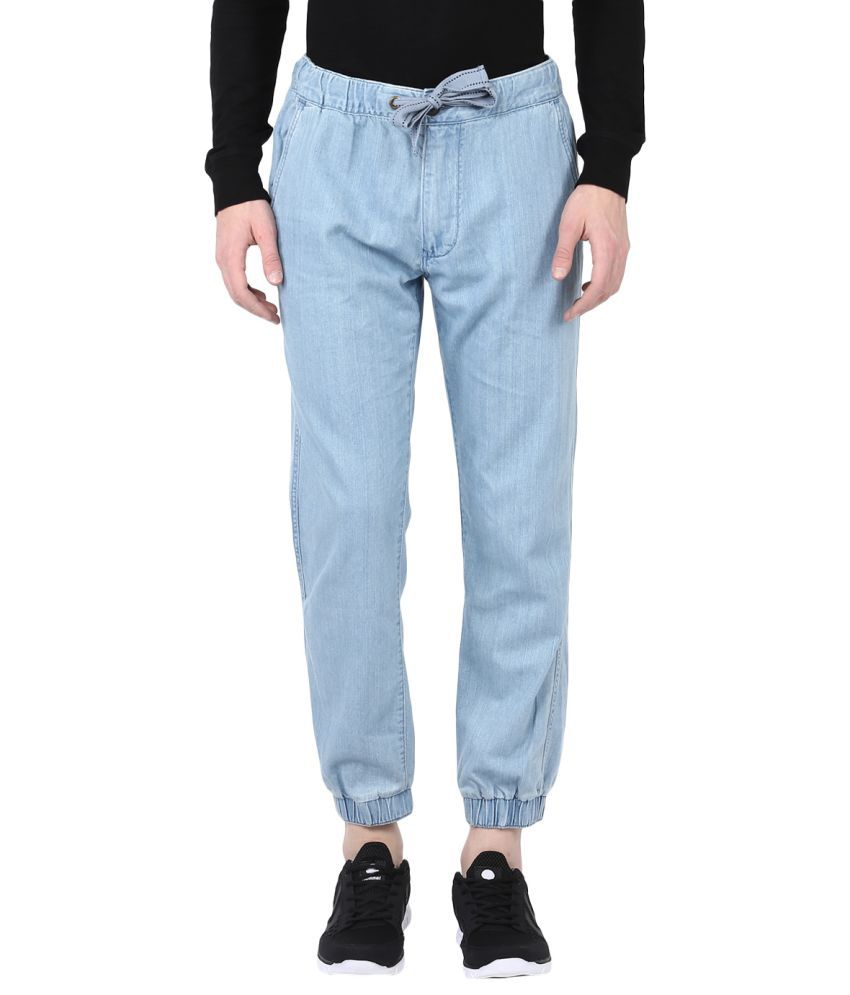 Fox Blue Regular Flat Joggers