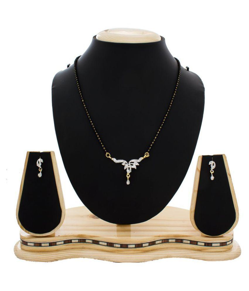 The Luxor Sunshine Brass Dazzling Austrian Diamond Mangalsutra