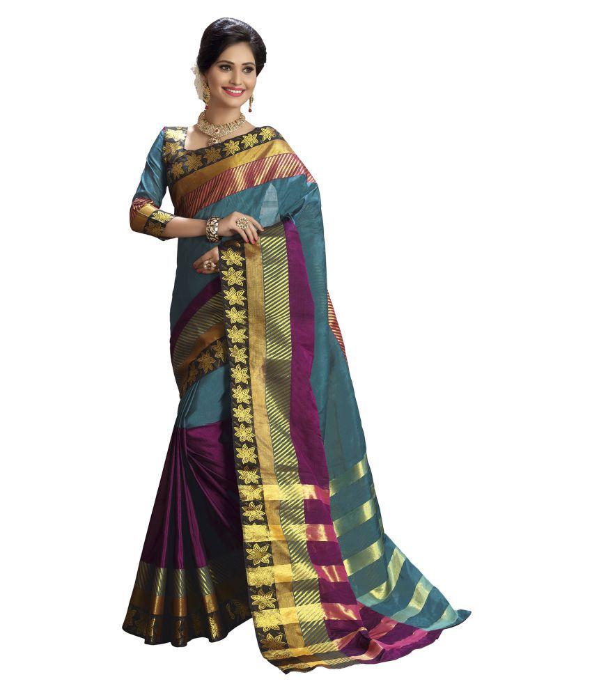 Aarti Apparels Multicoloured Cotton Saree