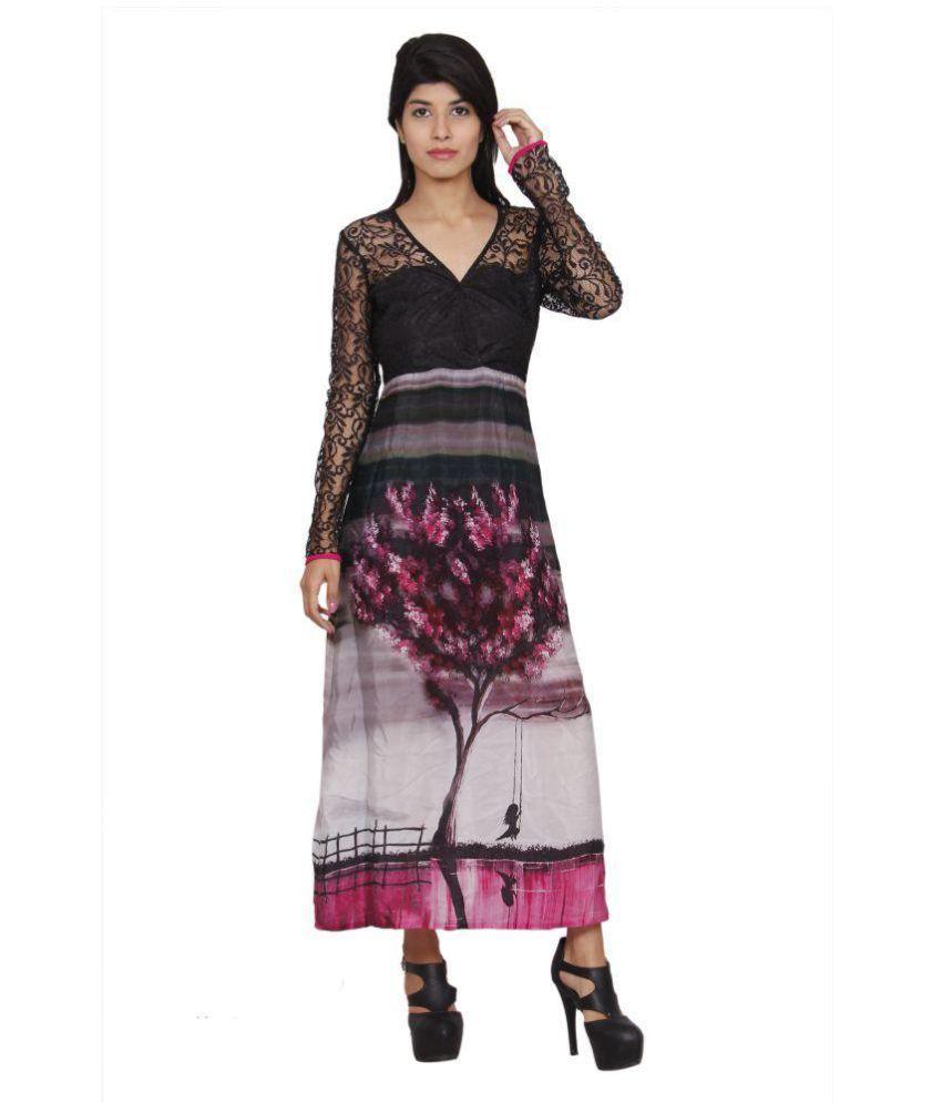 Priyanka Choudhary Multicoloured Crepe Straight Kurti