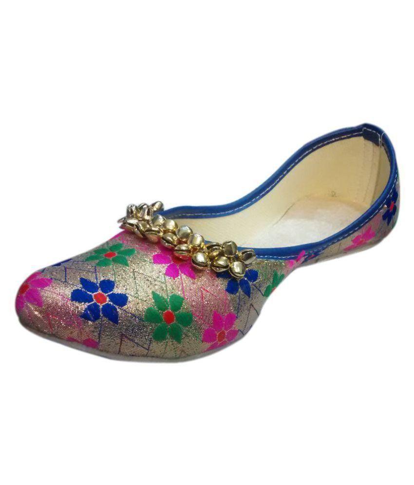 Skoll Multi Color Flat Ethnic Footwear