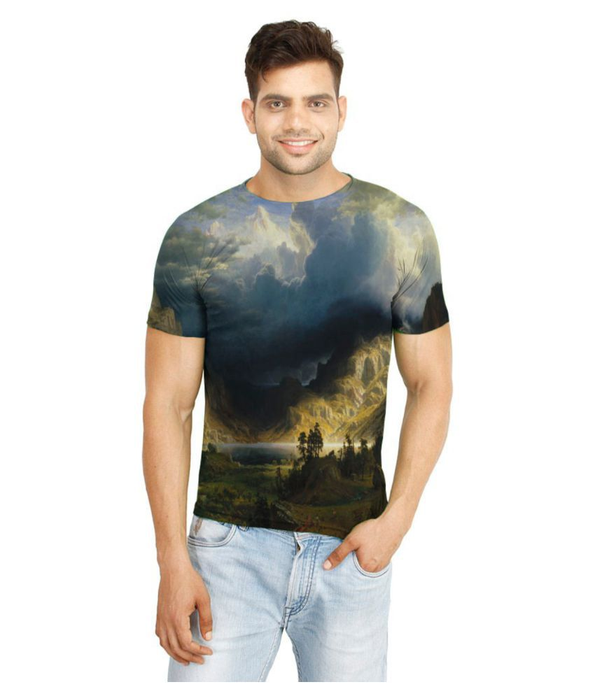Flingr Multi Polyester T-Shirt